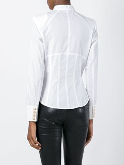 Рубашка Без Воротника Balmain                                                                                                              белый цвет
