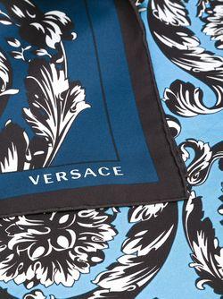 Шарф С Принтом Барокко Versace                                                                                                              синий цвет