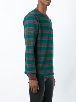 Striped Sweatshirt Sacai                                                                                                              зелёный цвет