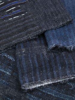 Striped Scarf ZIGGY CHEN                                                                                                              синий цвет