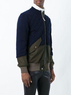 Куртка-Бомбер С Панельным Дизайном Sacai                                                                                                              синий цвет