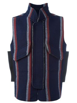 Striped Gilet Sacai                                                                                                              синий цвет