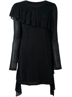 Платье-Свитер С Бахромой MM6 by Maison Margiela                                                                                                              чёрный цвет