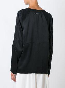 Атласная Толстовка MM6 by Maison Margiela                                                                                                              чёрный цвет