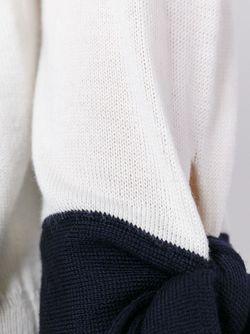 Джемпер С Манжетами На Завязках MSGM                                                                                                              белый цвет