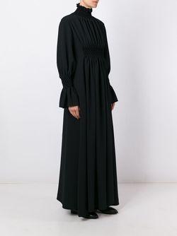 Длинное Платье С Высоким Горлом Kenzo                                                                                                              черный цвет