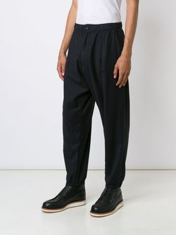 Striped Balloon Trousers Engineered Garments                                                                                                              синий цвет