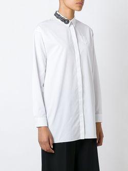 Рубашка С Декорированным Воротником No21                                                                                                              белый цвет
