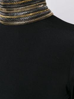 Декорированное Платье С Высокой Горловиной Pierre Balmain                                                                                                              черный цвет