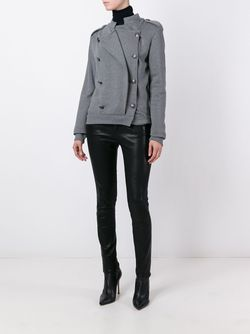 Приталенная Двубортная Куртка Pierre Balmain                                                                                                              серый цвет