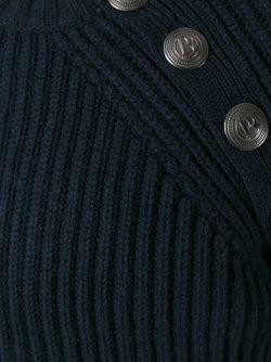 Свитер С Рубчик С Отделкой Пуговицами Pierre Balmain                                                                                                              синий цвет