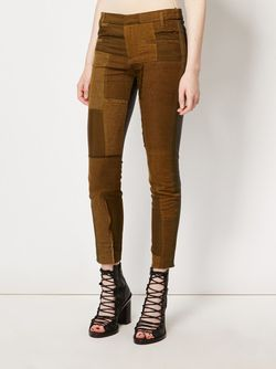 Patchwork Skinny Trousers Haider Ackermann                                                                                                              зелёный цвет
