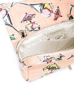 Ice Cream Sundae Printed Shoulder Bag Chanel Vintage                                                                                                              розовый цвет