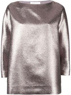 Блузка С Эффектом Металлик Gianluca Capannolo                                                                                                              серебристый цвет