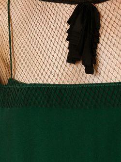 Платье Шифт С Прозрачной Панелью No21                                                                                                              зелёный цвет