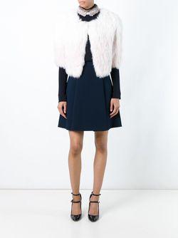 Укороченный Жакет Yves Salomon                                                                                                              белый цвет