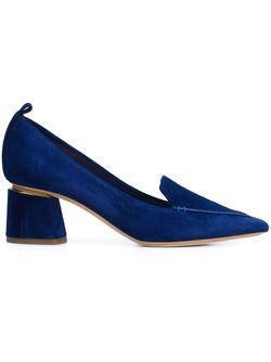 Туфли На Массивном Каблуке Nicholas Kirkwood                                                                                                              синий цвет