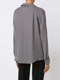 Блузка C V-Образным Вырезом Vince                                                                                                              серый цвет