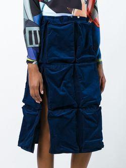 Пышная Вельветовая Юбка Julien David                                                                                                              синий цвет