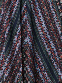 Layered Patterned A-Line Skit Derek Lam 10 Crosby                                                                                                              синий цвет