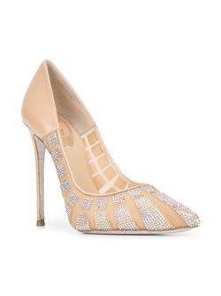 Декорированные Туфли-Лодочки С Заостренным Носком Rene' Caovilla                                                                                                              Nude & Neutrals цвет