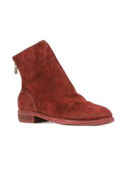 Ботинки На Молнии GUIDI                                                                                                              красный цвет