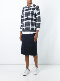 Plaid Crew Neck Jumper Brunello Cucinelli                                                                                                              серый цвет