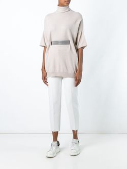 Belted Turtleneck Knitted Top Brunello Cucinelli                                                                                                              Nude & Neutrals цвет