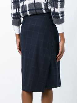 Jacquard Asymmetric Skirt Brunello Cucinelli                                                                                                              синий цвет