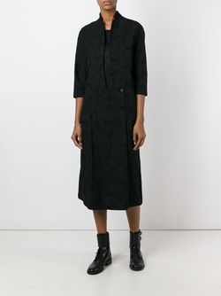 Three-Quarter Sleeve Shirt Dress INDIVIDUAL SENTIMENTS                                                                                                              чёрный цвет