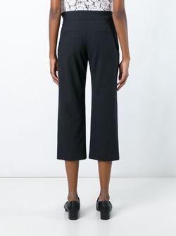 Pleated Cropped Trousers Brunello Cucinelli                                                                                                              чёрный цвет