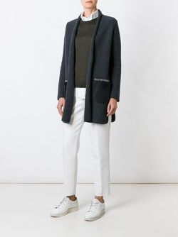 Long Contrast Pocket Cardi-Coat Fabiana Filippi                                                                                                              серый цвет