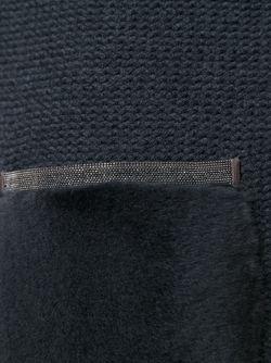 Long Contrast Pocket Cardi-Coat Fabiana Filippi                                                                                                              серый цвет