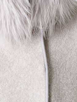 Fur Collar Jacket Fabiana Filippi                                                                                                              Nude & Neutrals цвет