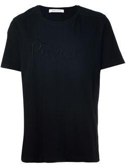 Футболка С Логотипом Pierre Balmain                                                                                                              чёрный цвет