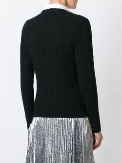 Cable Knit V Neck Jumper Polo Ralph Lauren                                                                                                              чёрный цвет