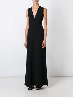 Длинное Платье Без Рукавов T By Alexander Wang                                                                                                              чёрный цвет