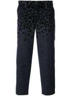Animal Print Cropped Tapered Trousers Kolor                                                                                                              серый цвет