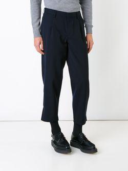 Tapered Cropped Trousers Kolor                                                                                                              синий цвет