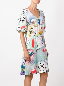 Платье С Рисунком И Рукавами-Баллон Tsumori Chisato                                                                                                              многоцветный цвет