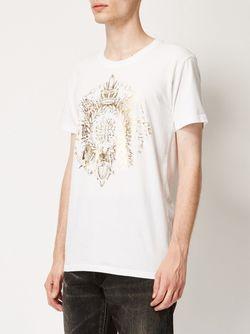 Round Crest T-Shirt Balmain                                                                                                              белый цвет