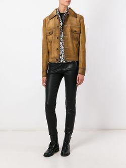 Фактурная Куртка PALM ANGELS                                                                                                              коричневый цвет