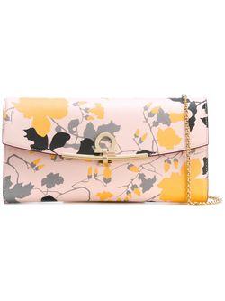 Клатч С Цветочным Принтом Salvatore Ferragamo                                                                                                              Nude & Neutrals цвет