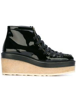 Туфли На Платформе Со Шнуровкой Pierre Hardy                                                                                                              черный цвет