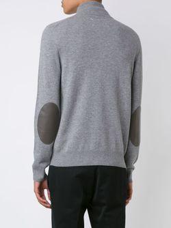 Elbow Patch Knit Sweater Maison Margiela                                                                                                              серый цвет