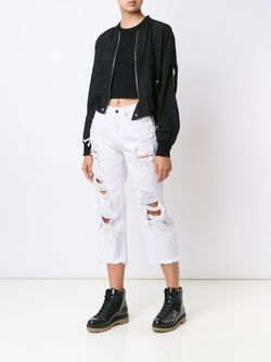 Distressed Cropped Jeans Alexander Wang                                                                                                              белый цвет