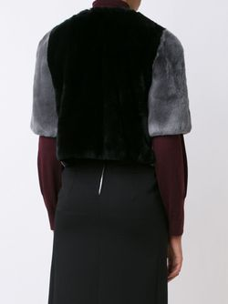 Cropped Fur Jacket Marni                                                                                                              серый цвет