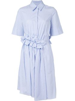 Flared Shirt Dress Victoria, Victoria Beckham                                                                                                              синий цвет