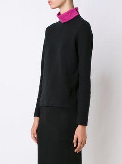 Contrast High Neck T-Shirt Belford                                                                                                              черный цвет