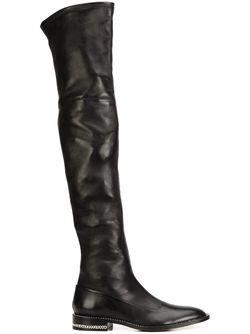 Ботфорты С Цепочной Отделкой Givenchy                                                                                                              чёрный цвет